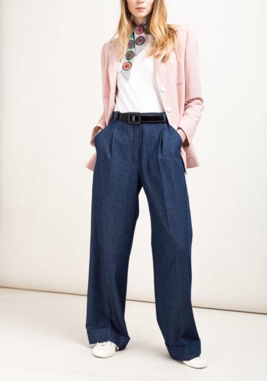 Jeans ampi sartoriali