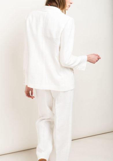 Pantaloni in lino bianco