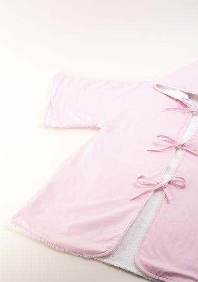 Accapatoio bambina in oxford rosa