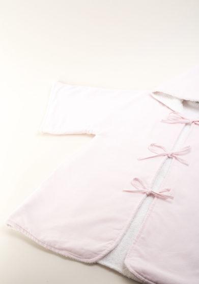 Accapatoio bambina in piquet rosa