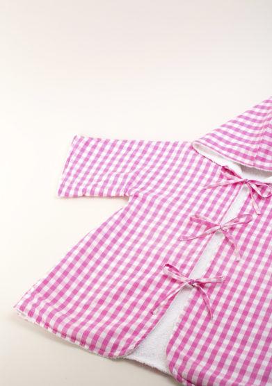 Accapatoio bambina in vichy rosa