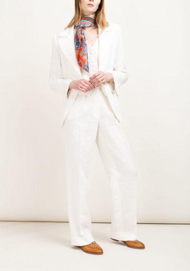 Pantaloni di lino bianco