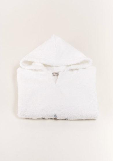 Cappa in spugna per neonato con ricamo piccolo principe