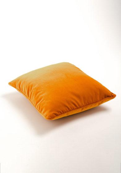 Cuscino in velluto arancio
