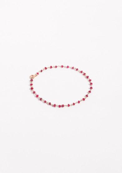 Bracciale a rosario in oro e rubini