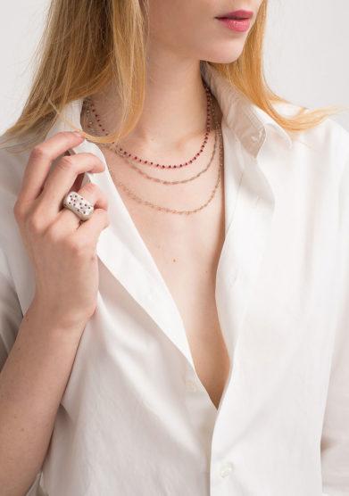 Anello in argento con rubini