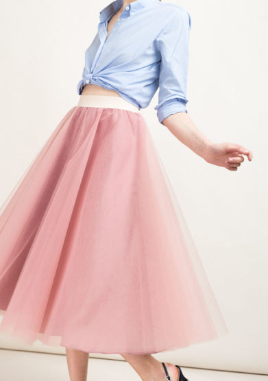 Gonna ballerina midi a ruota in tulle