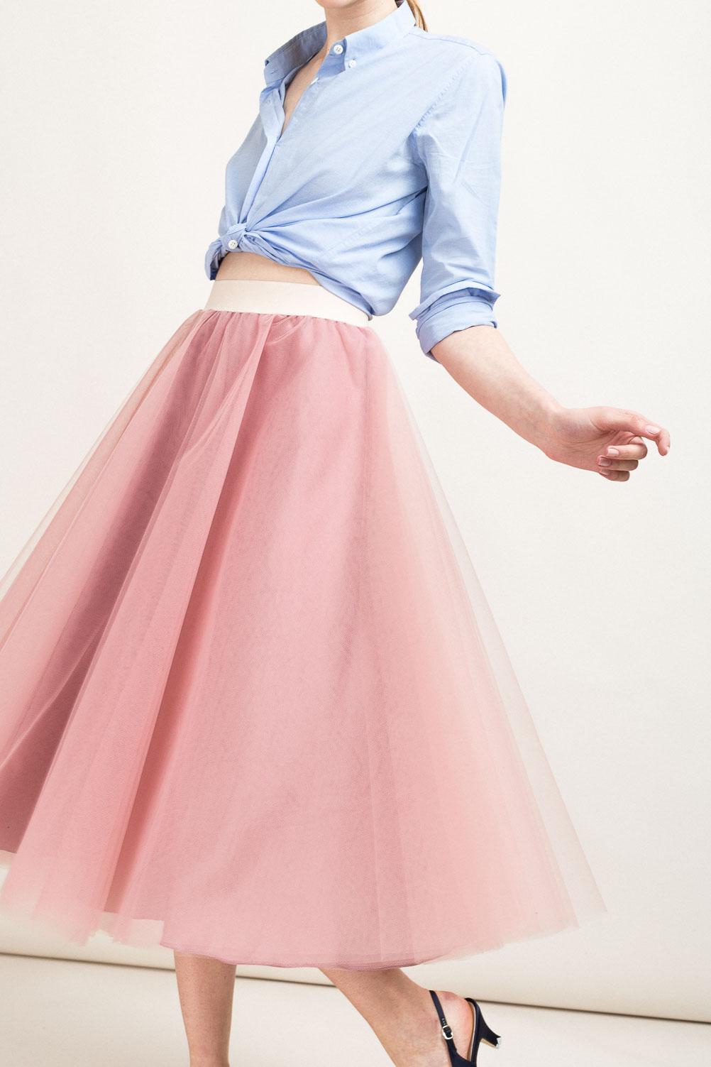enorme sconto 040e5 455c4 MATTA E GOLDONI - Midi ballerina skirt in tulle - The Dressing Screen