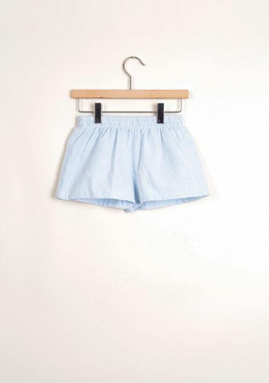 Bermuda shorts da mare a righine in rilievo carta da zucchero