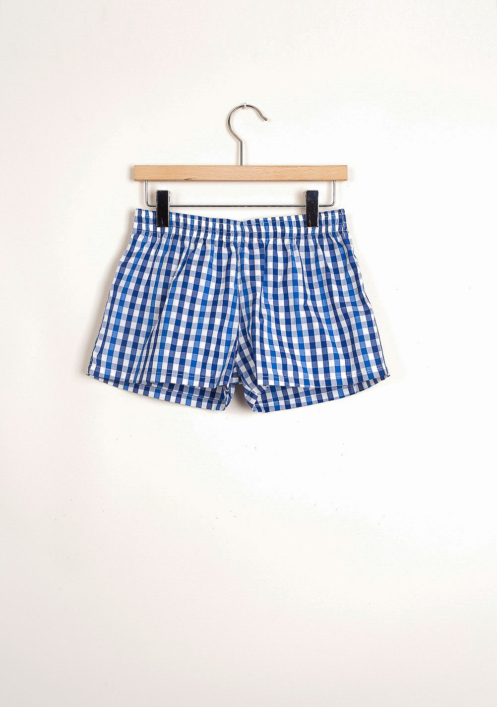42f0778138 Marine vichy blue beach boxer shorts - The Dressing Screen