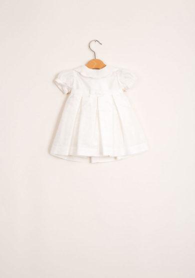 Abito neonata in seta a vita alta