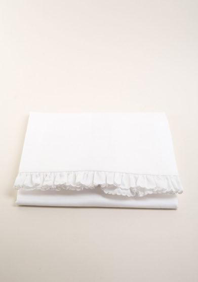 Copripiumino per culla in cotone con merletto