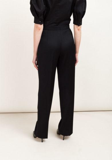 Pantaloni neri eleganti in lana