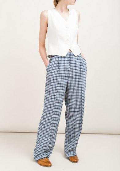 Pantaloni scozzesi in lana