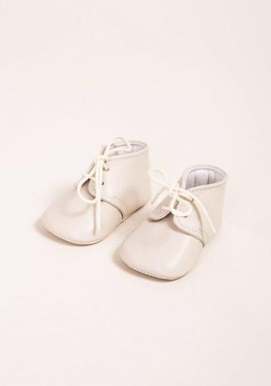 Polacchino neonato in pelle crema