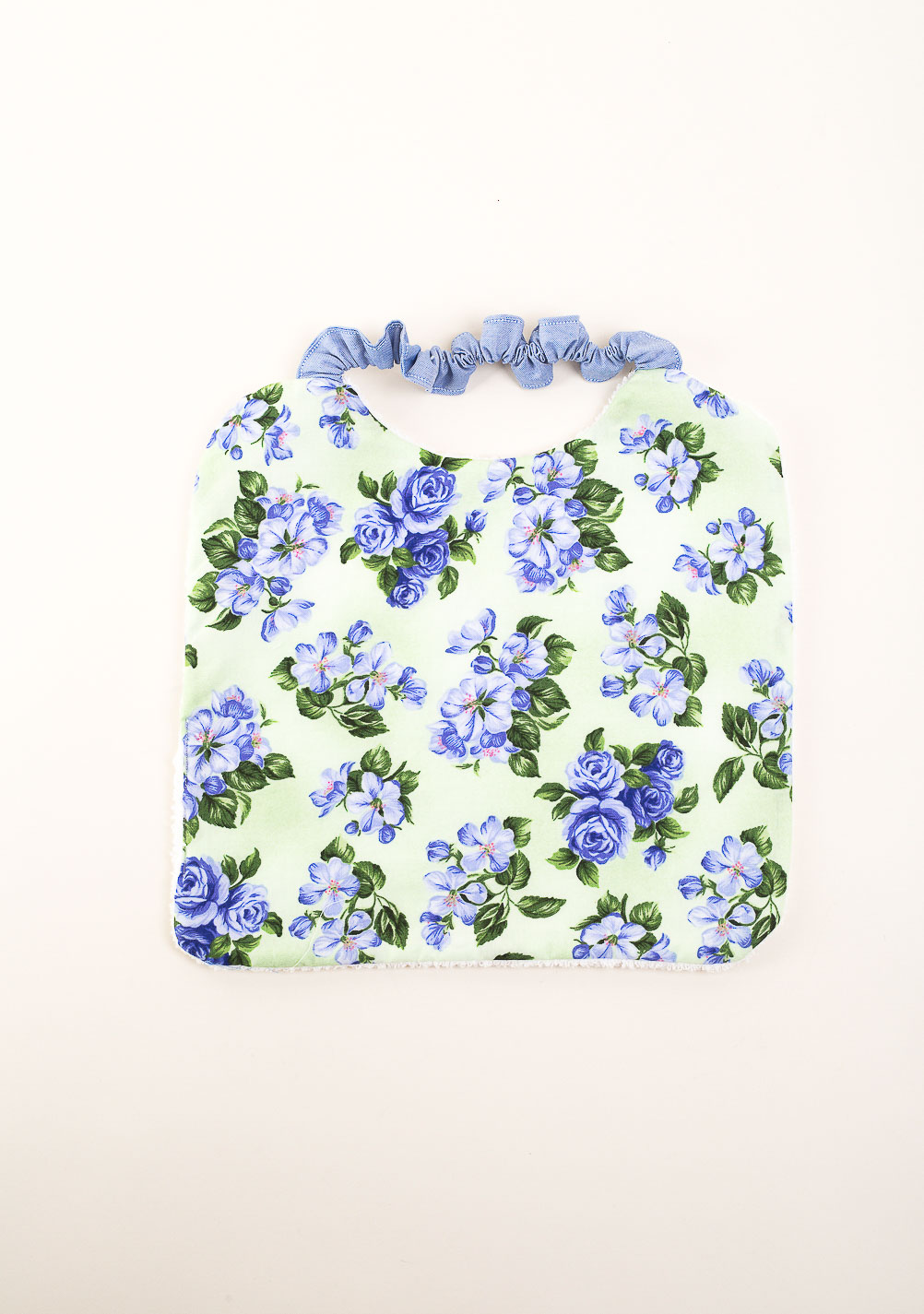 Fiori Liberty.Lilac Floral Liberty Bib Made To Order The Dressing Screen