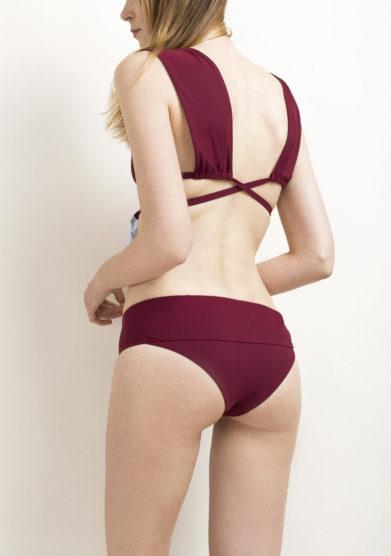 Top bikini bordeaux