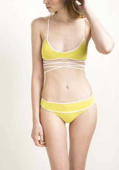 Top bikini lace up lime