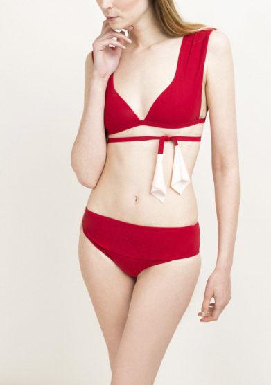 Top bikini rosso