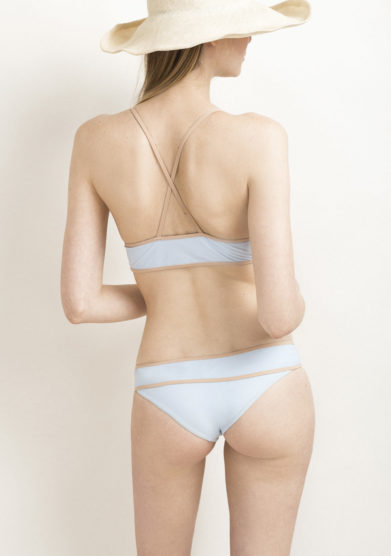 Top bikini azzurro