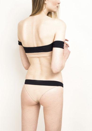 Top bikini off-the-shoulder nero