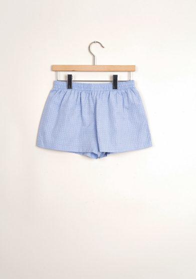 Bermuda shorts da mare in popeline azzurro
