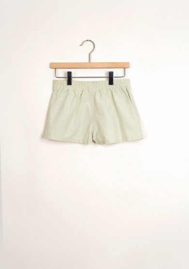 Bermuda shorts da mare a quadretti jacquard verdi