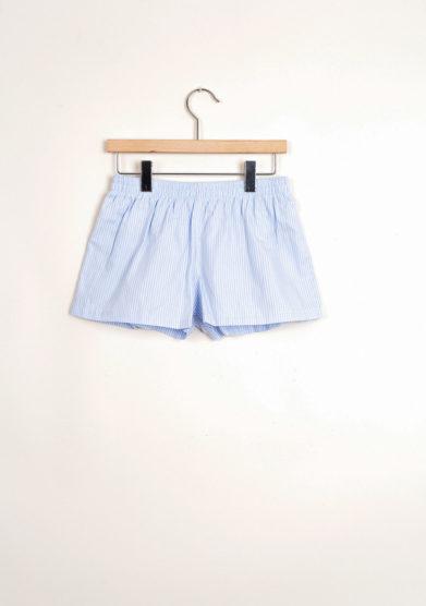 Bermuda shorts da mare con doppia riga azzurra