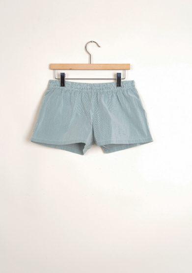 Bermuda shorts da mare a righine verdi