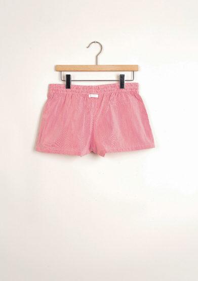 Bermuda shorts da mare a righine rosse