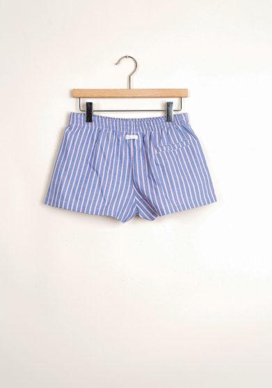 Bermuda shorts da mare a righe rosa e blu