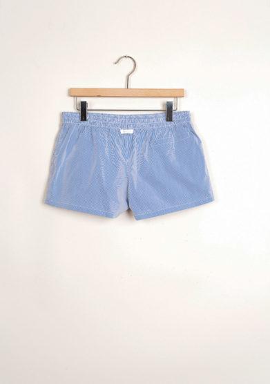Bermuda shorts da mare a righine blu