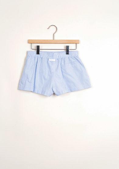 Bermuda shorts da mare a righe azzurre