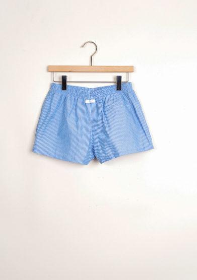 Bermuda shorts da mare a maxi righe blu