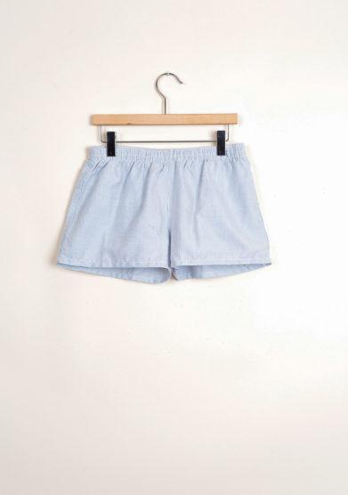 Bermuda shorts da mare in piquet blu