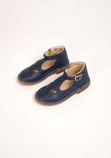 Sandali due occhi in pelle blu