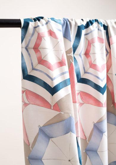 Tenda in cotone stampa ombrello
