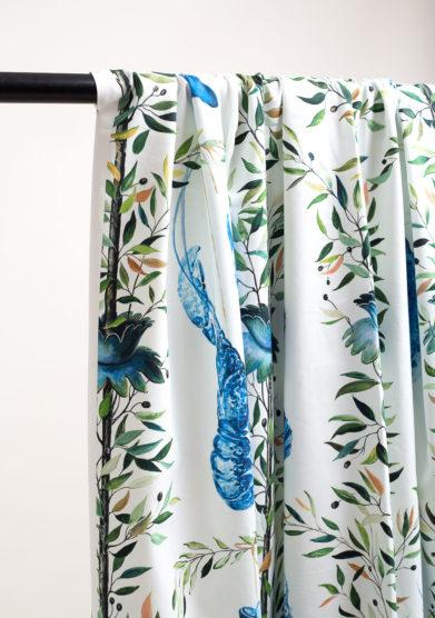 Tenda in cotone con fantasia marina