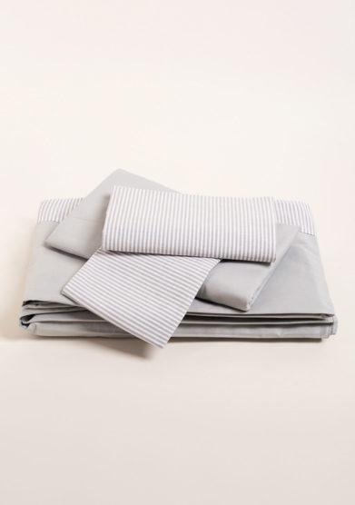 Completo letto in puro cotone a righe