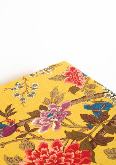Tovaglia in lino con stampa fiori