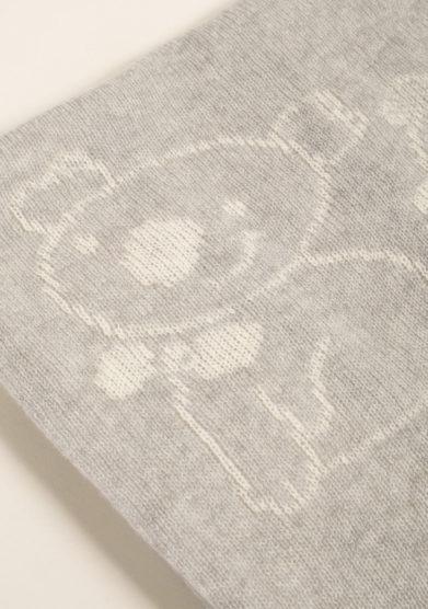 Coperta bambino in puro cashmere grigio
