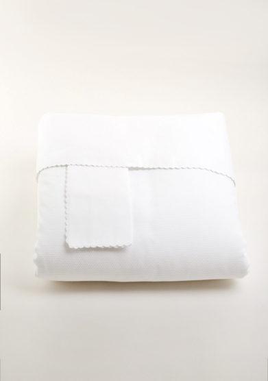 Il set copripiumino in puro cotone bianco per bambino
