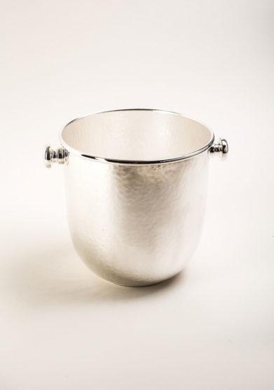 Secchio Champagne martellato in trilaminato d'argento