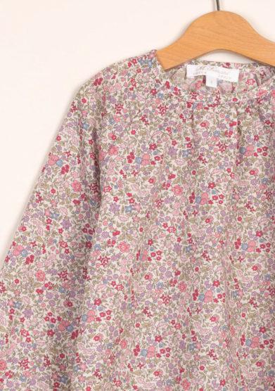 Blusa liberty rosa in cotone