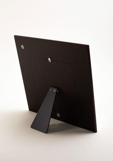 Cornice portafoto quadrata in argento a fascia rigata