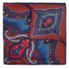 Foulard in seta con stampa paisley bordeaux