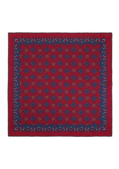 Foulard in seta con stampa paisley rossa