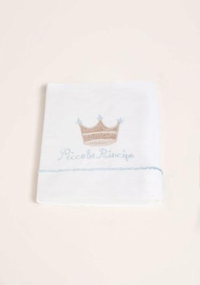 Set lenzuola 3 pezzi in cotone ricamo piccolo principe