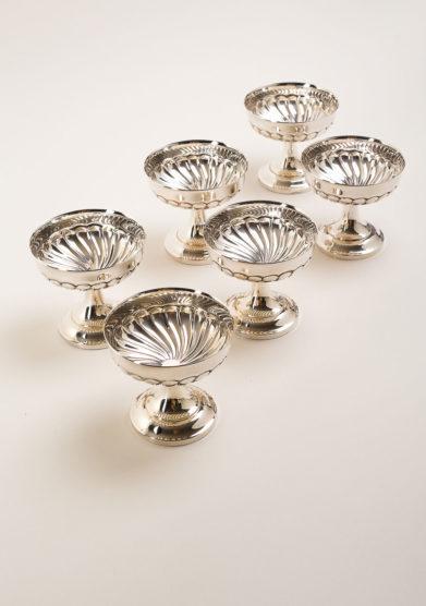 Set 6 Coppe Gelato/Macedonia in argento
