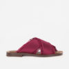 AMBLÊME - Madrague sandals in burgundy silk satin